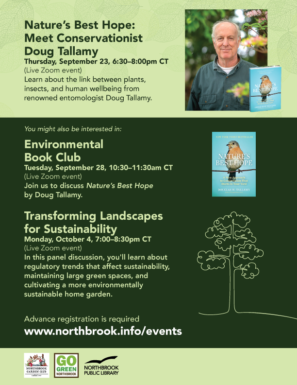 Meet Nature's Best Hope's Author Conservationist Doug Tallamy. Register at the link provided for more information.